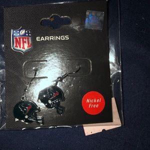 NEW!  NFL Licensed HOUSTON Texans Helmet Earrings